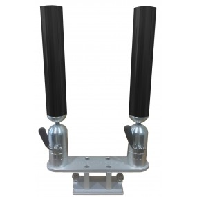Cisco Dual Tube Holder on Trackmount - Dubbel spöhållare svart
