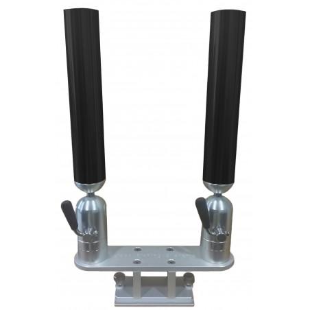 Cisco Dual Tube Holder on Trackmount - Dubbel spöhållare svart