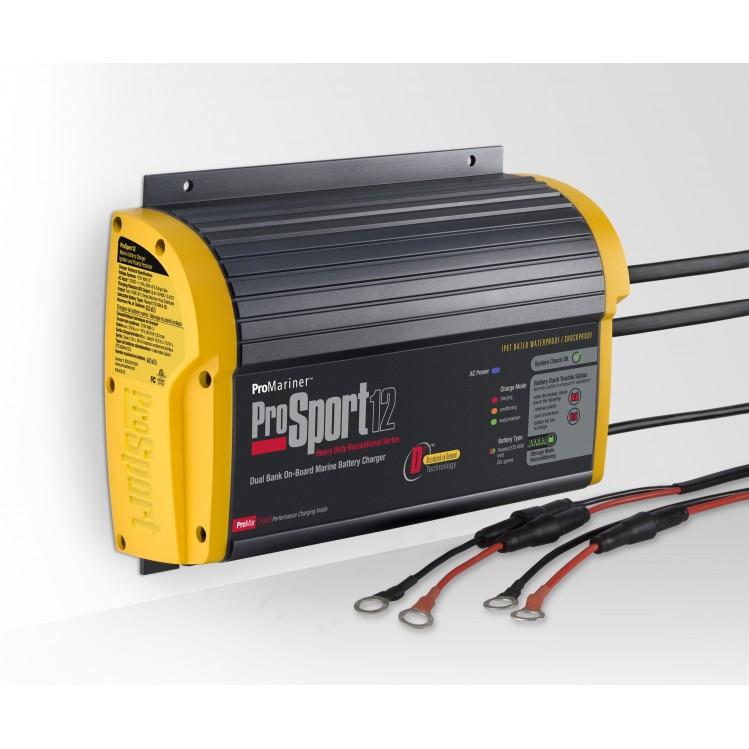 ProSport batteriladdare 12Ah 2 x 12 volt