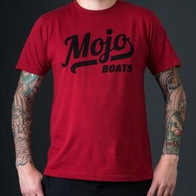 Mojoboats Script T-shirt | mörkröd