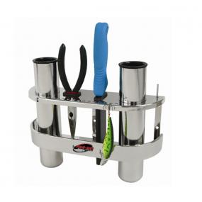 Fish-On! Rostfri Dubbel Spöhållare/verktygsförvaring