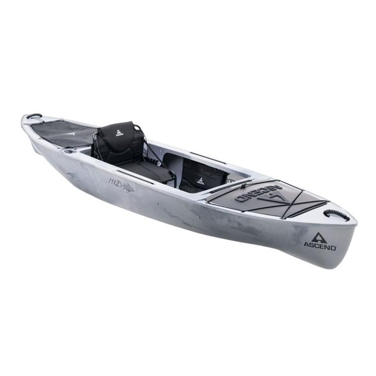 Kajak Ascend H12 Sit In Hybrid Kayak White Black Mojoshop