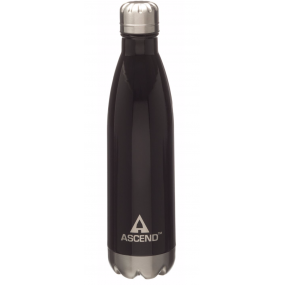 Ascend Slimline Water Bottle Black - isolerad vattenflaska