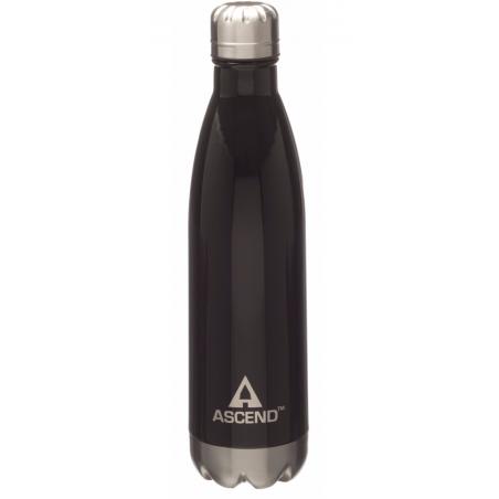 Ascend Slimline Water Bottle Black - isolerad vattenflaska