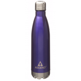 Ascend Slimline Water Bottle Purple - isolerad vattenflaska