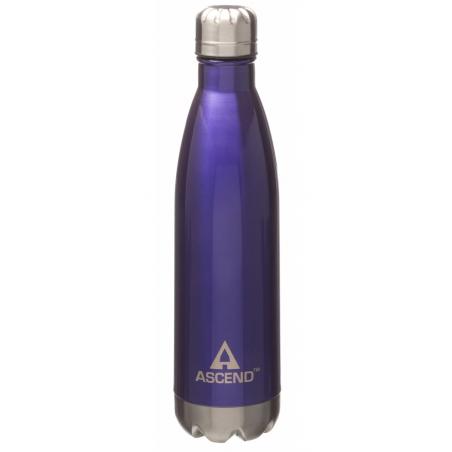 Ascend Slimline Water Bottle Purple - isolerad vattenflaska