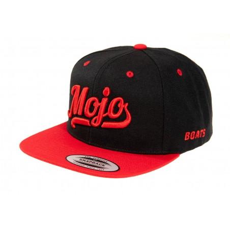 Mojoboats Script logo keps Black/Red