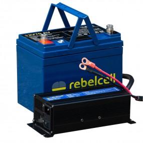 Rebelcell 12V70 AV Litiumbatteri inkl laddare!
