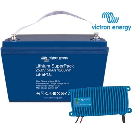 Victron Lithium SuperPack 24V50 inkl laddare