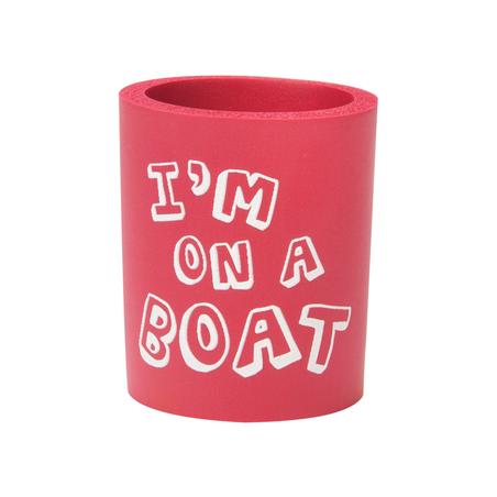 Can Cooler - Im on a Boat - röd/vit