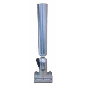 Cisco Single Tube Holder on Trackmount - Spöhållare silver