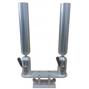 Cisco tubspöhållare Dubbel - Silver