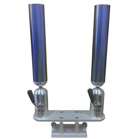 Cisco Dual Tube Holder on Trackmount - Dubbel spöhållare blå
