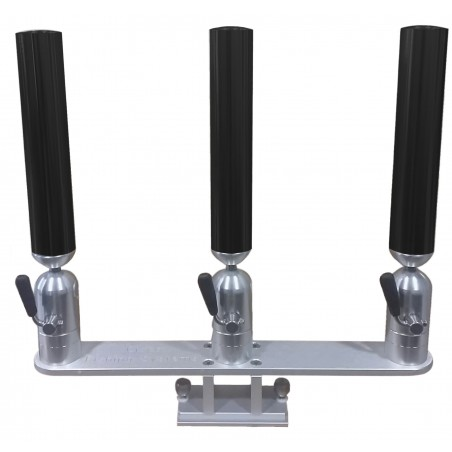 Cisco Triple Tube Holder on Trackmount - Trippel spöhållare svart