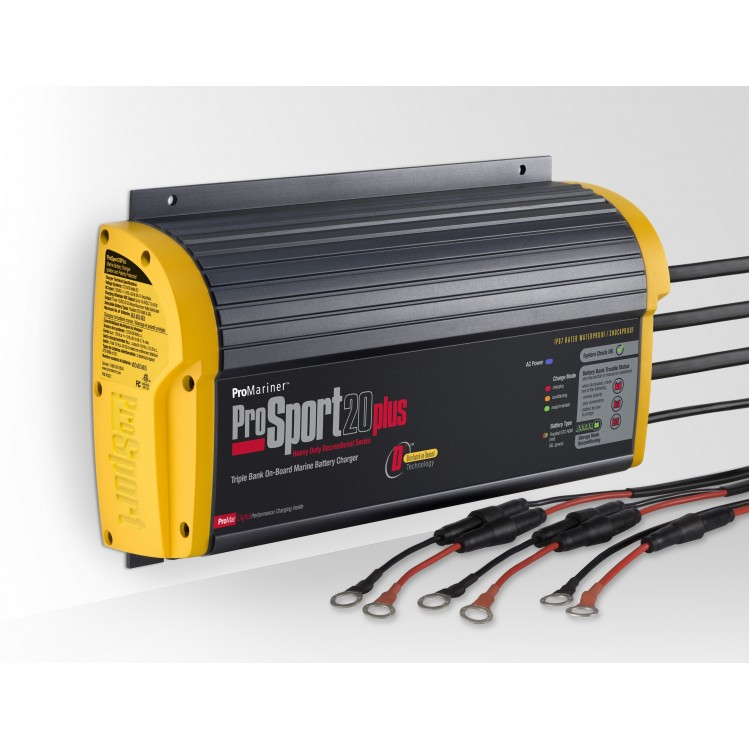 ProSport batteriladdare 20A 3 x 12 volt